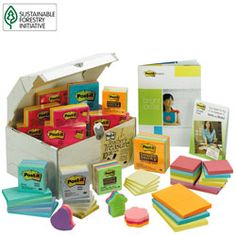 I am addicted to Post-its. They definitely make my top ten list of best inventions ever. EVER. This is the Holy Grail of Post-its. A 10-lb. 10,000 note assortment...cue the hallelujah chorus.