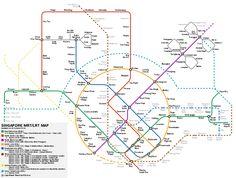 Future Singapore MRT map 2011 2015 2020 2025 OCWorkbench