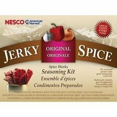 Nesco BJ-18 Jerky Spice Works, Original Flavor, 18-Pack by Nesco American Harvest. $16.99. Spices blend with cure packets to season beef, pork, turkey, and more. Measures approximately 6 by 9.5 by 3 inches. 18 Original flavor seasoning and cure packets. Make fresh beef jerky from lean ground meat, turkey, pork. Delight an outdoor cook, large-game hunter, or angler with this savory collection of 18 Original Flavor jerky seasoning packs. To use, simply mix the spice ...