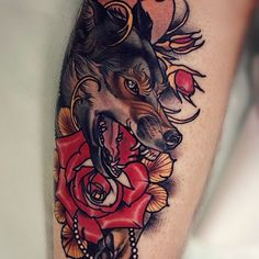 45 Best Rose And Wolf Tattoos Images In 2017 Wolf Tattoos Tatoos Ink