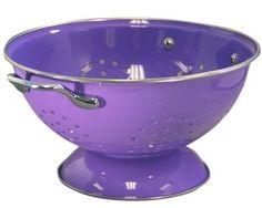 New Calypso Basics 3 Quart Powder Coated Colander Purple Kitchen Bar Dining Cook Purple Love, All Things Purple, Shades Of Purple, Pink Purple, Purple Stuff, Purple Rooms, Purple Hues, Periwinkle, Deep Purple