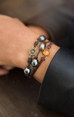 A Leather Cord Bracelet