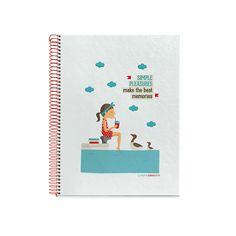Cuaderno Pleasures diseñado por TuttiConfetti para MIQUELRIUS - Pleasures Notebook designed by TuttiConfetti for MIQUELRIUS