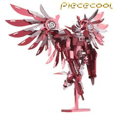 Limited+Edition+Piececool+3D+Metal+Puzzle+Thundering+Wings+Gundam+P069RS+DIY+3D+Laser+Cut+Toys