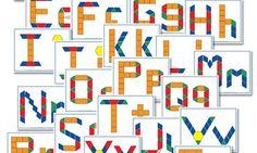Alphabet Pattern Block FREE Printables http://www.confessionsofahomeschooler.com/blog/2012/10/free-alphabet-pattern-block-printables.html