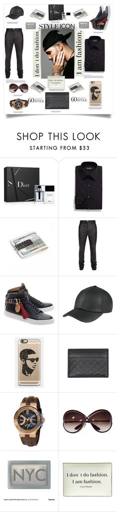 """""""The rapper Drake"""" by carleen1978 ❤ liked on Polyvore featuring Christian Dior, Tom Ford, Royce Leather, Paul Smith, BUSCEMI, Casetify, Gucci, Bulgari, Twigs and Moss and men's fashion"""