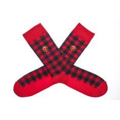 $17.90  Chaussettes TARTAN Rouge    Chaussettes Royalties, motif Tartan rouge et bleu, finitions bords côtes, made in France.    Composition : 78 % coton, 20 % polyamide, 2% élasthane