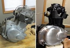 Look at a couple of my most desired builds - tailor made scrambler motorcycles l. Look at a couple of my most desired builds - tailor made scrambler motorcycles like this Vintage Motorcycles, Custom Motorcycles, Custom Bikes, Honda Motorcycles, Triumph Cafe Racer, Cafe Racers, Dr 650, Mein Café, Honda Cb400