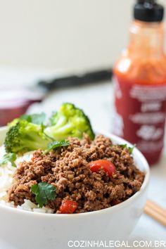 Carne moída com Sriracha   Cozinha Legal
