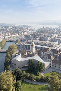 Extension of the Swiss National Museum along the Limmat River, Zurich
