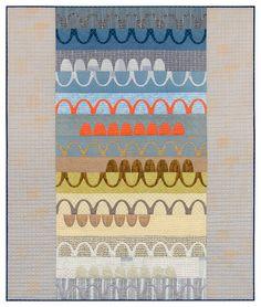 "Carolyn Friedlander's quilt ""Catenary,"". It uses needle-turn appliqué."