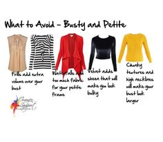 what to avoid busty and petite