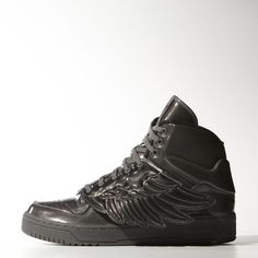 brand new a8d20 a7cac Adidas ObyO x Jeremy Scott Wings Molded Trainers - Athletic Shoes Black  Tênis Adidas, Sapatos