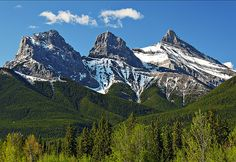 Three Sister, near Canmore, Alberta, Canada. 9633'