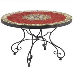 Pier 1 Outdoor Rania Mosaic Table With Hand Poured Tiles