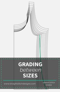 Grading Between Sizes on PDF Pattern