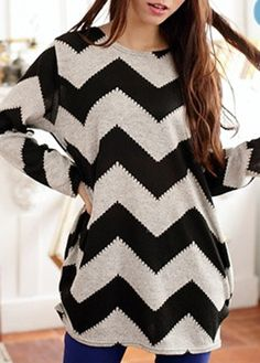 Comfy and cute chevron sweater.