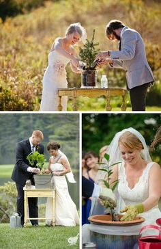 Tree Planting Wedding Unity Ceremony