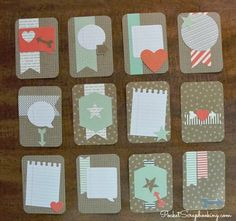 Sometimes it is fun to get a bit creative with your pocket scrapbooking.  Learn how you can make handmade #ProjectLife cards with a card making kit.