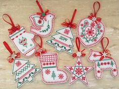 Nordic Christmas Ornaments - Omas Place | OregonPatchWorks