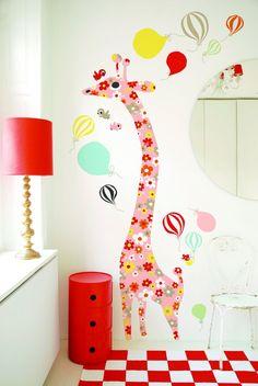 "Vinilo ""Giraffe Flowers"" #shopnordico #littlephant #estilonordico #decoraciónnordica #decoracióninfantil"