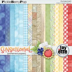 Sunsational Patterned Papers By Fayette Designs