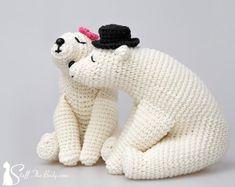 Kissing Bears Amigurumi Pattern wedding crochet by StuffTheBody