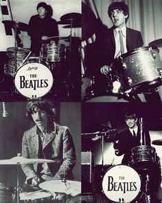 all 4 on drums~Ringo said everytime   he turned around, or went to get tea, or take a leak, Paul was on his trap kit.