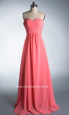 Sweetheart Neck Long Chiffon Prom Gown Formal Dress 2013 ISD441