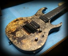 Kiesel Guitars Carvin Guitars  DC700 Buckeye burl top with gloss back and sides in a satin finish with customer pick ups