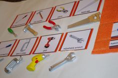 Tools Montessori 3-part cards--Montessori matching--Montessori early learning educational materials by TheLaminatrix
