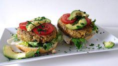 vegetarische kikkererwten hamburger