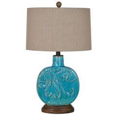 Crestview Deep Ocean Table Lamp CVAP1725