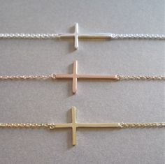 Side+Way+Cross+Bracelet++Cross+Bracelet+by+tangerinejewelryshop,+$47.00.                ❤️❤️❤️ke