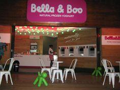 outside the Bella & Boo store - night