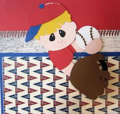 Boy's Little League Baseball Premade Scrapbook Page.Click this Pin to visit the best site for handmade scrapbook pages. http://www.etsy.com/shop/SWAKScrappin $24.99