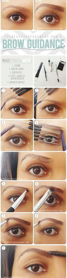 Brow Shaping Tutorials - Tricks That Will Give You The Bold Brows You Always Dreamed Of - Awesome Makeup Tips for How To Get Beautiful Arches, Amazing Eye Looks and Perfect Eyebrows - Make Up Products and Beauty Tricks for All Different Hair Colors along with Guides for Different Eyeshadows - thegoddess.com/brow-shaping-tutorials