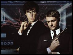Q!Sherlock and Bond!John I would totes magotes watch this