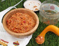 Mousseline d'artichaut, tofu, compotée de tomate et poivron par Comme des papas Collection été - https://www.cubesetpetitspois.fr/divers/comme-des-papas-mousseline-artichaut-tofu-compotee-de-tomate-et-poivron/