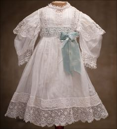Antique white muslin dress and chemise...so beautiful.