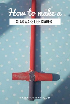 Come and take a look at how to make a star wars lightsaber with your kids! Perfect junk modelling activity