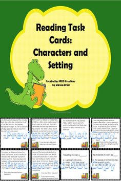 This product contains 20 task cards for practice with character and setting.