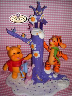 Winnie the Pooh & Tigger #cake #toppers