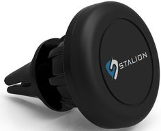 Car Mount: Stalion Stand Universal Cell Phone & GPS Magnetic Car Cradle (Jet Black) for Apple iPhone 6 6s Plus, Samsung Galaxy S7 Edge, S6/S6 Edge+ Galaxy Note 5 Tablets All Other Smartphones. World Class Design durable rubberized covered magnetic universal car mount; equipped with magnetic plates to secure your device. Secures your device to car's air vent for full touch screen access. Metallic plate enables perfect mounting on your air vent of your choice. Customize your viewing…