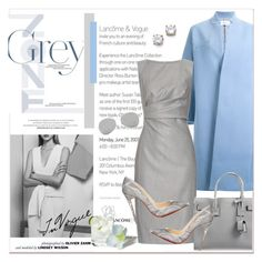 """""""Well dressed in Grey"""" by stylemeup-649 ❤ liked on Polyvore featuring Le Ciel Bleu, MaxMara, Givenchy, Acne Studios, Yves Saint Laurent, Christian Louboutin, F, Guide London, women's clothing and women's fashion"""