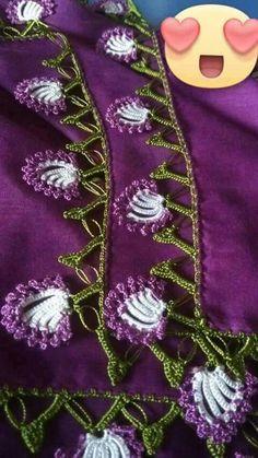 This Pin was discovered by HUZ Needle Lace, Bobbin Lace, Knit Or Crochet, Irish Crochet, Saree Tassels Designs, Moda Emo, Viking Tattoo Design, Sunflower Tattoo Design, Crochet Borders