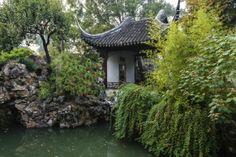 Peaceful scene in Suzhou garden