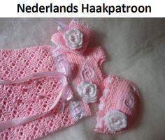 Nederlands Haakpatroon Baby Set Angel Jurk  door ElodyKnitsforKids