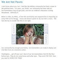 Army Wives Club: We Are Not Pawns