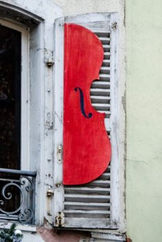 "This musical window schutter is from our feature ""Christmas in Colmar"""
